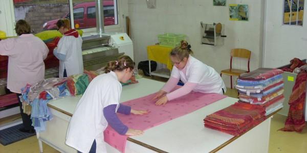 l'atelier blanchisserie de l'ESAT AVENIR.